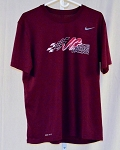 Kyle Busch Joe Gibbs Racing Team issue Nike Dri-Fit Race Used T-shirt SIZE LARGE