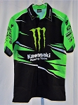 Kawasaki Monster Motorcycle Race Used Pit Crew Shirt. Awesome. MEDIUM