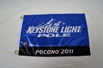 Keystone Light NASCAR Truck Series Pole Flag. Kevin Harvick Pocono 2011