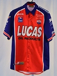 Travis Gregg Lucas Oil Infiniti Indy Pro Race Used Pit Crew Shirt V2.