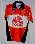 a5ac6ecf Marcos Ambrose Mac Tools Petty NASCAR Race Used Pit Crew Shirt-Stains MEDIUM