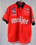 Richie Hearn Meijer Coke 2011 Indy 500 Race Used Chevy Crew Shirt. V3