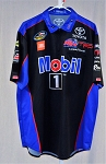 Christian Eckes Kyle Busch Mobil 1 Race Used NASCAR Pit Crew Shirt. SIZE LARGE