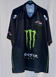2017 Kyle Busch MONSTER ENERGY Race Used NASCAR Pit Crew Shirt SIZE 3XL
