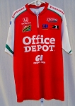 Rahal Letterman Racing Office Depot Race Used IZOD Indy Pit Crew Shirt. XL