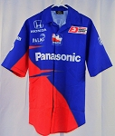 Rahal Letterman Panasonic Honda Race Used IZOD Indy Car Pit Crew Shirt XL