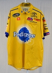 2018 David Gilliland Pedigree Kyle Busch Used NASCAR Pit Crew Shirt. SIZE LARGE