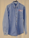 Petty Enterprises Race Used Team Issued Long Sleeve Denim Shirt