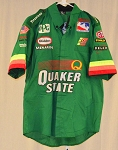Vintage Tony Stewart Quaker State Glidden Race Used IRL Crew Shirt. SIZE LARGE