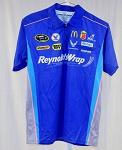 d721c9e1 Elliott Sadler Reynolds Wrap Race Used NASCAR Pit Crew Shirt V2