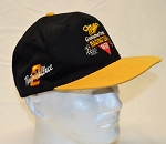 TWO (2) VINTAGE Rusty Wallace Miller Team Issue Race Used NASCAR Hats