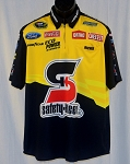 80cbd3d1 2015 Greg Biffle Safety-Kleen Race Used NASCAR Pit Crew Shirt