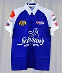 Vintage Kyle Petty Schwan's Race Used NASCAR Pit Crew Shirt