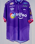 2016 Bubba Wallace Selfeo Race Used NASCAR Pit Crew Shirt SIZE LARGE
