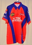Vintage Kyle Petty Tire Kingdom Race Used NASCAR Pit Crew Shirt. SIZE LARGE