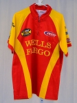 Vintage Kyle Petty Wells Fargo Race Used NASCAR Pit Crew Shirt