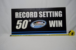 Kyle Busch NASCAR Nationwide Series 50th Win Plaque. Bristol 2011. Race Used