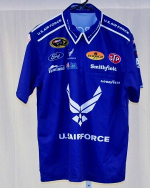 Aric Almirola Air Force Race Used Petty NASCAR Pit Crew Shirt
