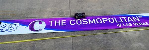 Bubba Wallace Richard Petty Cosmopolitan Vegas Race Used NASCAR Pit Wall Banner