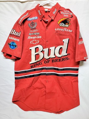 Dale Earnhardt Jr Budweiser Rookie Year 2000 Race Used NASCAR Crew Shirt