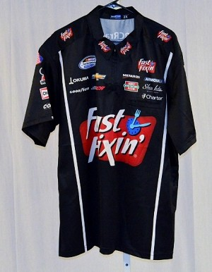 Kevin harvick fast fixin race used nascar pit crew shirt for Kevin harvick pit shirt