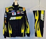 Carl Edwards Subway Race Used Simpson NASCAR Racing Suit #3741 42/32/29