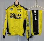 Dollar General Impact Race Used NASCAR Racing Suit #3937 54/36/34