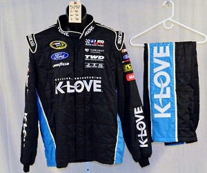 Michael McDowell KLOVE Sparco SFI-5 Race Used NASCAR NOMEX Fire suit #5140 46/30/30
