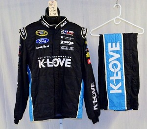 Michael McDowell KLOVE Sparco SFI-5 Race Used NASCAR NOMEX Fire suit #5141 46/30/34