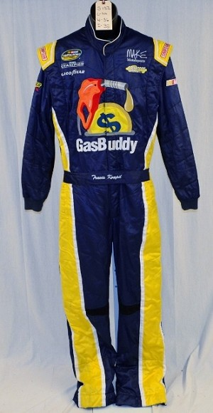 Travis Kvapil GasBuddy.com Simpson SFI-5 Race Used NASCAR DRIVER Fire Suit #5183 44/36/32