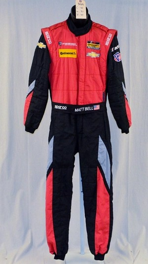 Sparco IMSA FIA Rated CHEVY DRIVER SUIT. Matt Bell. #5625 40/32/32