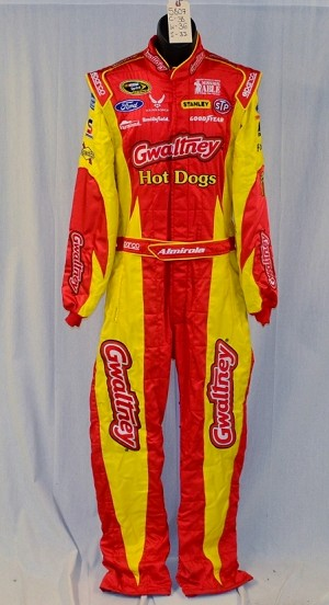 Petty Almirola Gwaltney Hot Dogs SFI-5 NASCAR Race Used DRIVER SUIT #5807 38/36/33