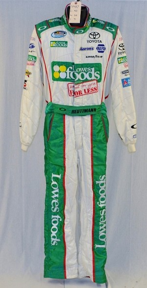 David Reutimann Lowes Foods Oakley SFI-5 Race Worn NASCAR DRIVER SUIT #5987 c42/w34/i31