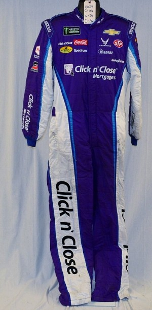 Bubba Wallace Click n' Close 2018 NASCAR Race Used Fire suit SPARCO SFI-5 #6029 c44/w38/i36