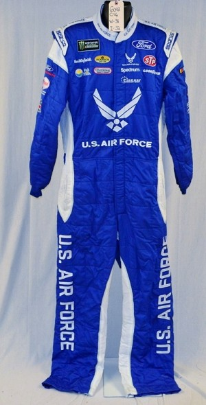 Petty Air Force Sparco SFI-5 Race Used NASCAR Monster Energy Fire Suit #6043 c40/w32/i29