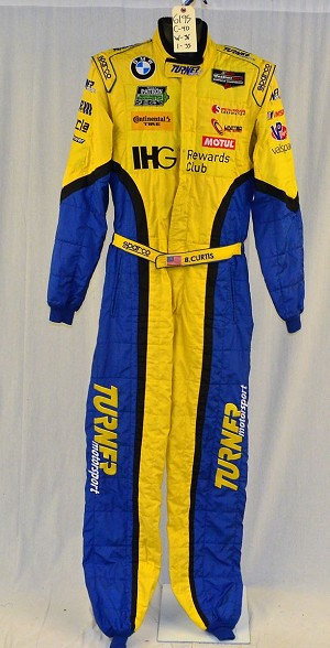 BMW Bret Curtis Turner Motorsports Sparco FIA Rated IMSA DRIVER Fire Suit #6195 c40/w36/i35