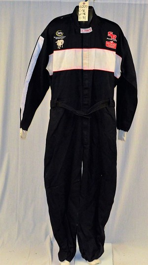 G-Force Serta Race Used Fire Suit. SFI-1 SINGLE LAYER #6207 c56/w46/i31
