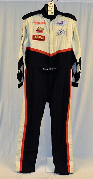 Hooters Jackaroo 2-Layer Race Used Fire Suit. NO SFI. #6213 c46/w40/i32