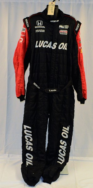 Robert Wickens Lucas Oil Sparco FIA Rated Race Used INDYCAR Pit Crew Fire Suit #6328-2 c52/w46/i33