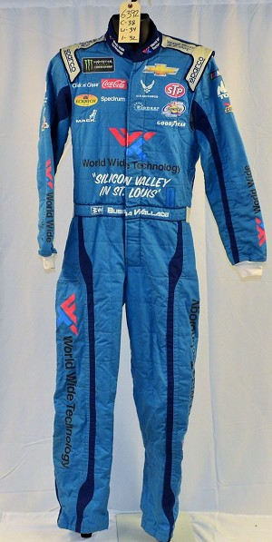 Bubba Wallace World Wide Technologies Race Used NASCAR ROOKIE DRIVER suit #6392 38/34/32