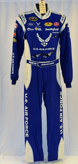 COOL Aric Almirola Air Force Sparco SFI-5 NASCAR DRIVER Fire Suit with Jets! #6410 c34/w32/i32