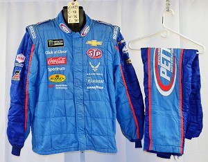 Bubba Wallace Petty 43 Race Used Sparco SFI-5 NASCAR Crew Fire Suit #6449 c48/w36/i30