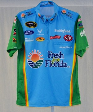 Almirola Petty Fresh from Florida not race used NASCAR Pit Crew Shirt V2