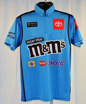 2019 Kyle Busch M&Ms Hazelnut not race used NASCAR Pit Crew Shirt