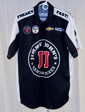 2016 kevin harvick jimmy johns nascar pit crew shirt new for Kevin harvick pit shirt