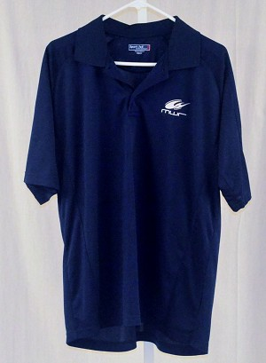 Michael Waltrip Racing Team Issued Navy Sportec Polo Shirt