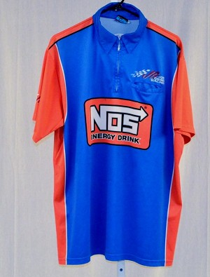 2017 Kyle Busch NOS Race Used NASCAR Pit Crew Shirt. Joe Gibbs. SIZE LARGE