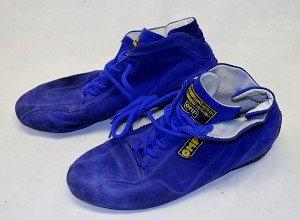 OMP Race Used FIA rated DRIVER shoes. Size 9 Mens US, Size 42 European #1
