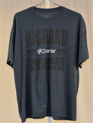 RCR Race Used Team Issue Charter Gray NASCAR T-shirt. COOL! SIZE XL