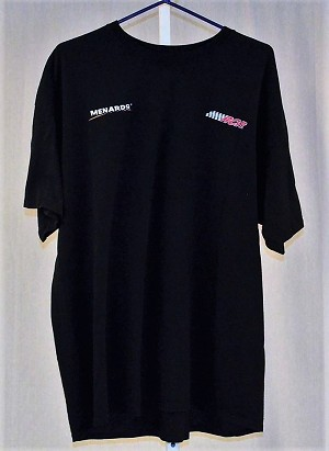RCR Menards Race Used Team Issued NASCAR T-shirt. SIZE 2XL